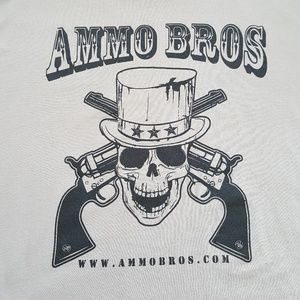 Next Level Ammo Bros Skull Gun Graphic Tee Shirt S